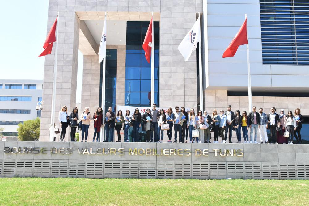 Visite à La Bourse des Valeurs Mobilières de Tunis